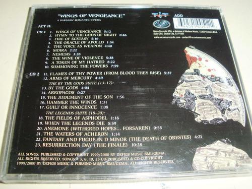 cd virgin steele ~ house of atreus, act ii (2 cd)  manowar