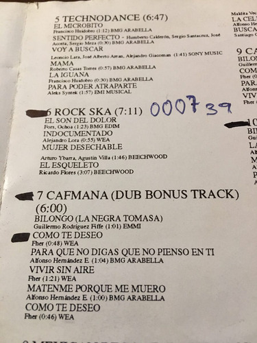 cd viva el rock mexicano maldita vecindad aleks syntek