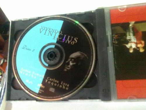 cd vivendo vinicius @  ao vivo -duplo  -1999-