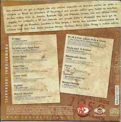 cd vp music - reggae jamaica - shaggy e outros