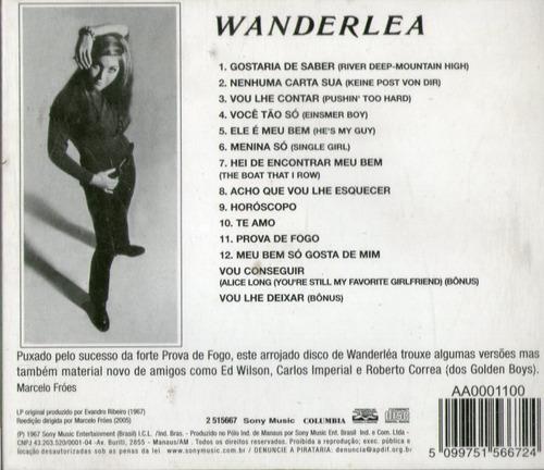 cd wanderléa - wanderléa (1967) - novo***
