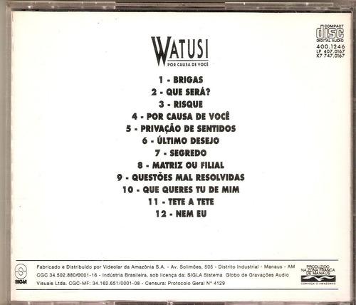 cd watusi - por causa de você - 1993