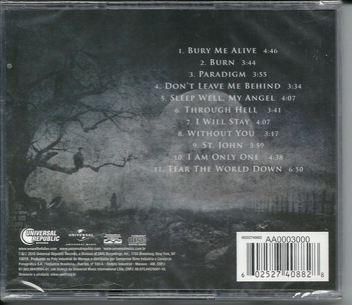 cd we are the fallen  tear the world down  metal gótico