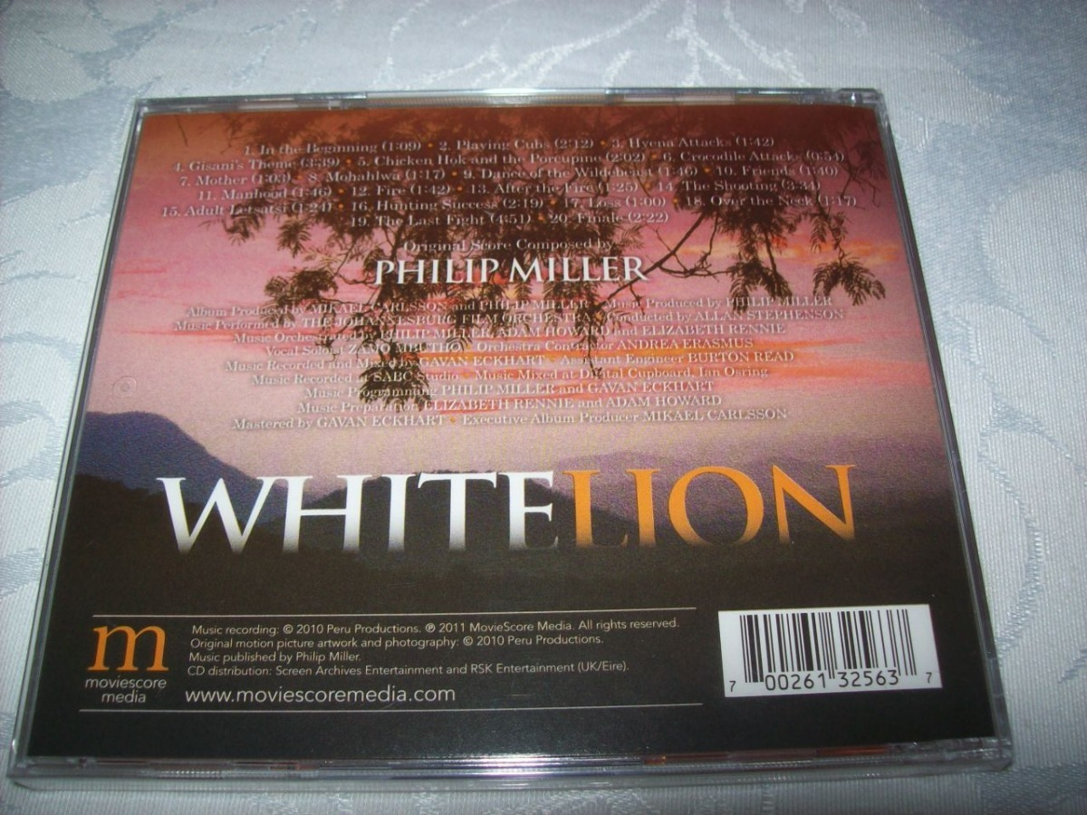 Cd - White Lion - Philip Miller - Lacrado - Importado