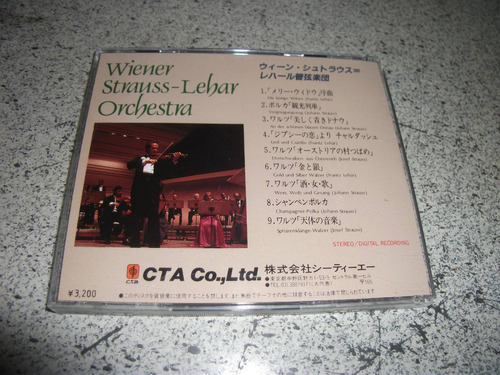cd - wiener orchestra strauss lehar importado japao
