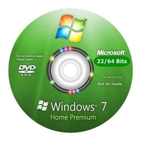 cd windows 7 home premium 32/64bits ativado