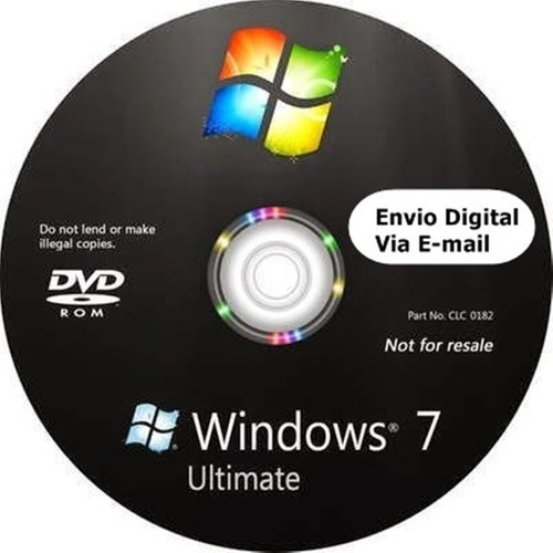 cd windows 7 ultimate 32/64bits ativado envio digital