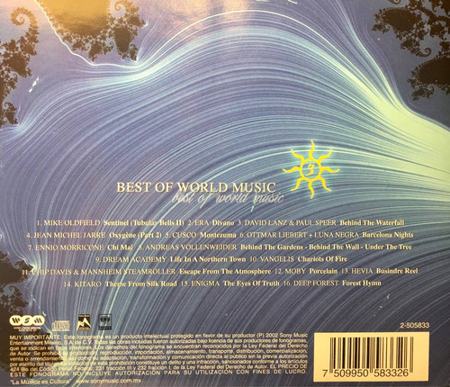 cd world 3 mike oldfield kitaro vangelis enigma moby cusco