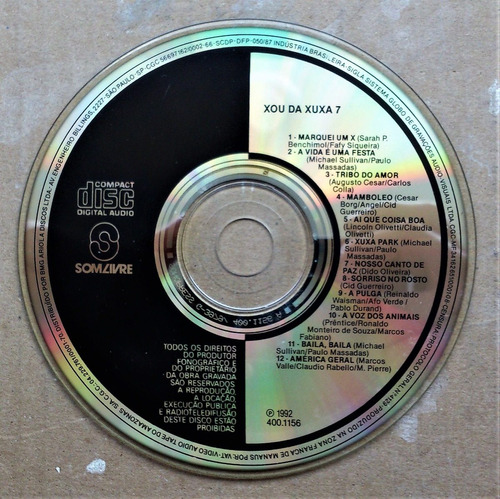 cd xuxa - xou da xuxa seis - 6  - 1991 + mídia xou da xuxa 7