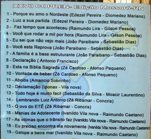 cd - xxvii congresso potiguar de repentistas (mossoró-rn)