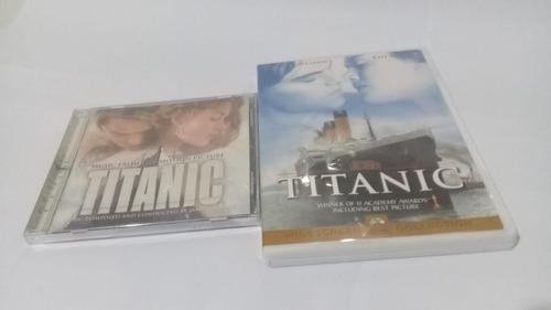 cd y dvd película titanic+banda sonora+soundtrack+dicaprio