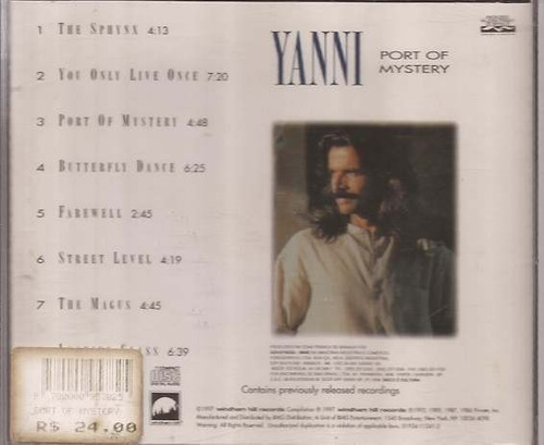 cd yanni - port of mystery - raro