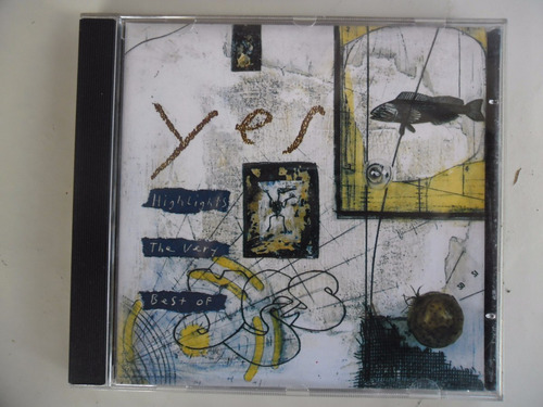 cd  yes - highlights: the very best of yes  novo deslacrado