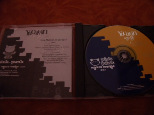 cd yucatan a go go, disco sencillo,  pink punk