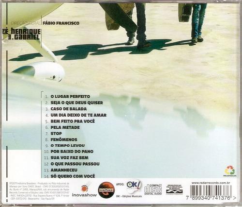 cd zé henrique & gabriel - lugar perfeito - lacrado