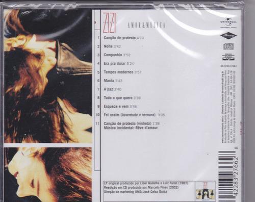 cd zizi possi - amor & música - 1987 - lacrado  frete grátis