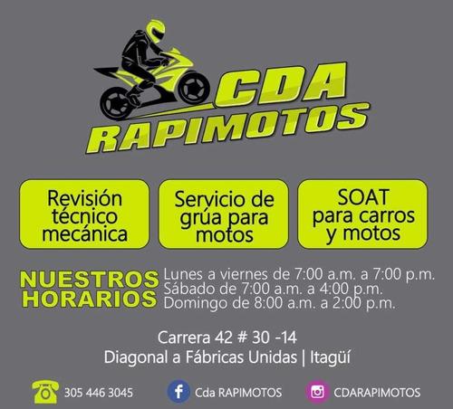 cda revisión técnico mecánica moto