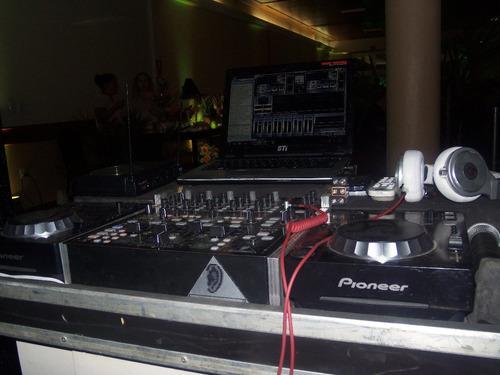 cdj350 pioneer e ddm 4000 behring + case com plataforma noot