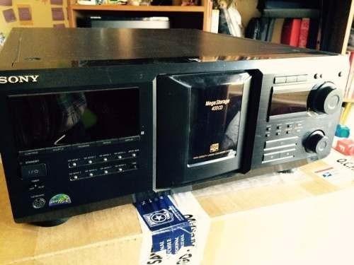 cdplayer megastore 400 discos sony poco uso extraordinario