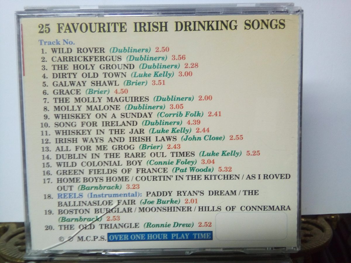 Cds All The Best Irish Pub Songs 25 Favourite Drinking Songs