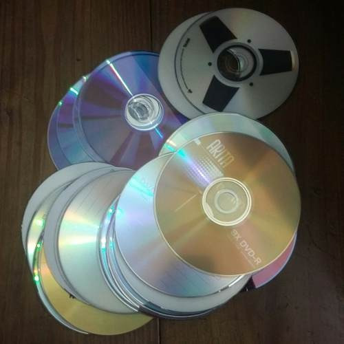 cds cd cd's dvd dvds para reciclar pintar decorar 3$ c/u