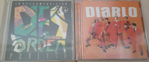 cds de desorden publico nuevos, sellados, importados