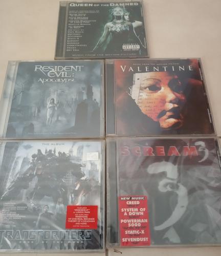 cds de metal soundtracks de peliculas resident evil, scream