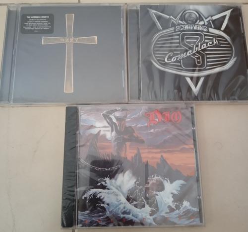 cds de musica originales ozzy osbourne, scorpions, dio