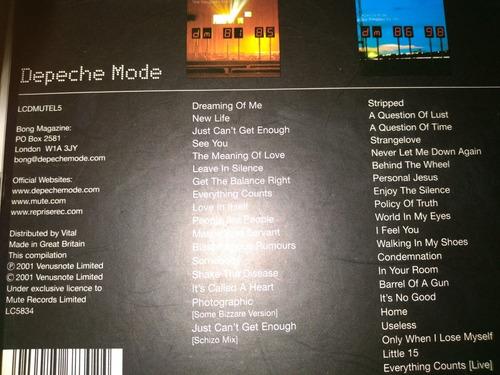 cds depeche mode  the sigle 81-98