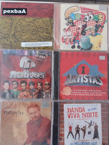 cds diversos r$4,00 unidade