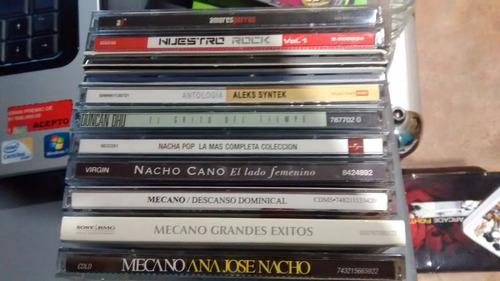 cd´s mecano, nacha pop, duncan dhu, mana, pop en español.