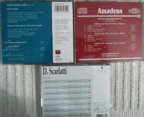 cds originales de música de haydn, haendel y scarlatti