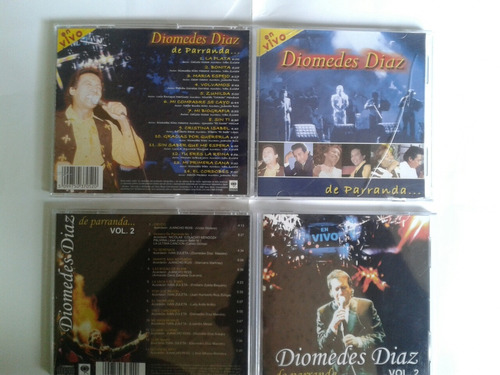 cd's originales diomedes diaz de parranda en vivo vol 1 y 2