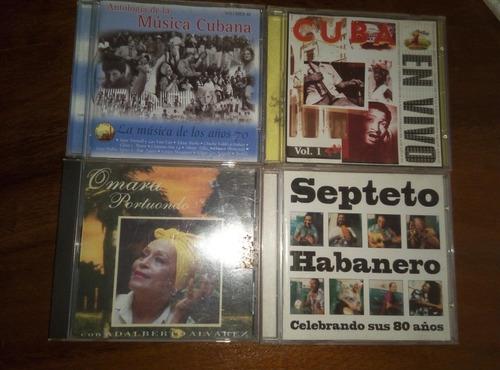cds originales, omara portuondo, septeto habanero y otros