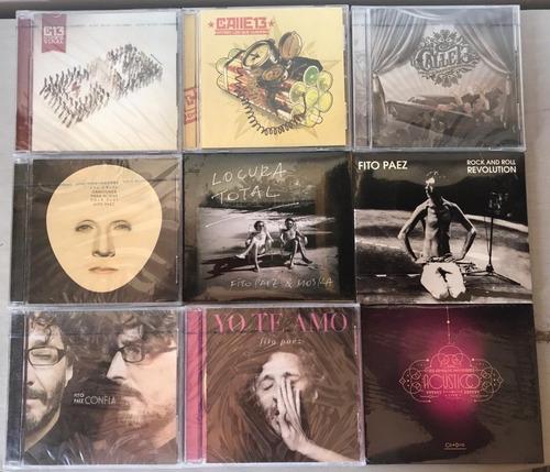 cds rock español - fito paez, babasonicos, calle 13
