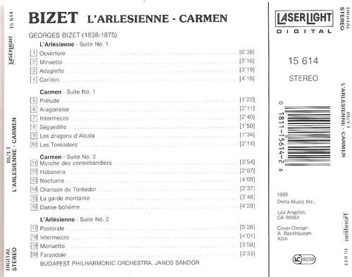 cds von karajan adagios bizet  de falla 5 x 1 (precio real)