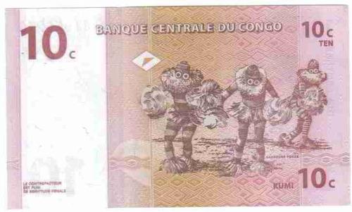 ce-w-407 congo - cédula $10c dix centimes 1997