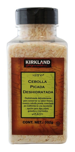cebolla picada deshidratada kirkland signature de 332 gr