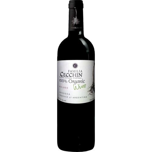 cecchin  - familia cecchin - malbec s-sulfito / caja x 6 bot