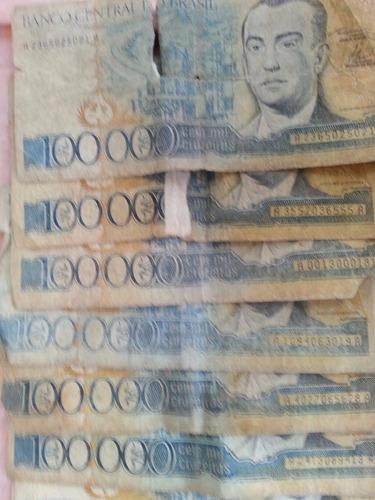 cedolas de notas  antigas  20 cedolas   10 reais  cada