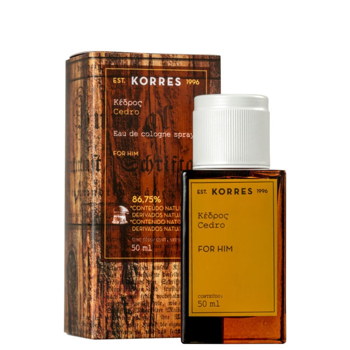 494a9c562 cedro korres eau de cologne - perfume masculino 50ml. Carregando zoom.