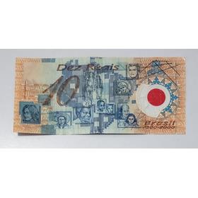 Cédula - Nota De 10 Reais Plástica - Brasil 500 Anos