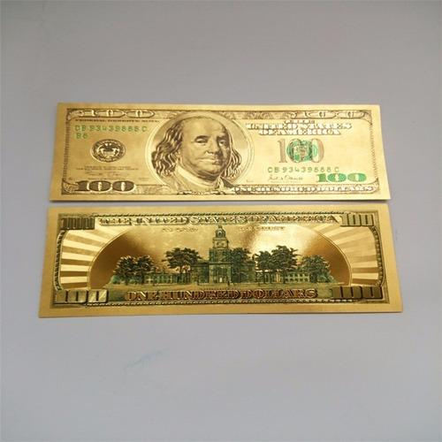 C 233 Dula 100 Dolar Modelo Antigo Folheado A Ouro 24 K R