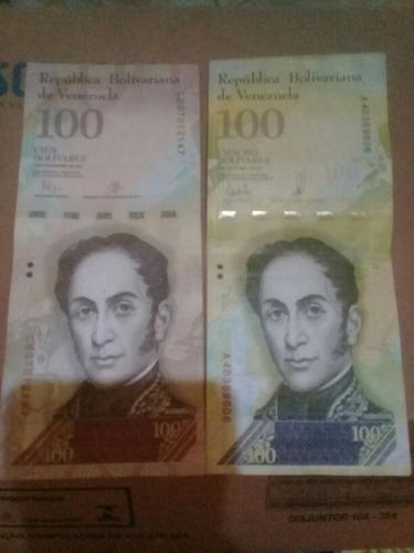 cedula 100 e 100000 bolivares mbc