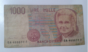 857 1000 Lire Mille Banca D Italia R 1200 No Mercado Livre Brasil