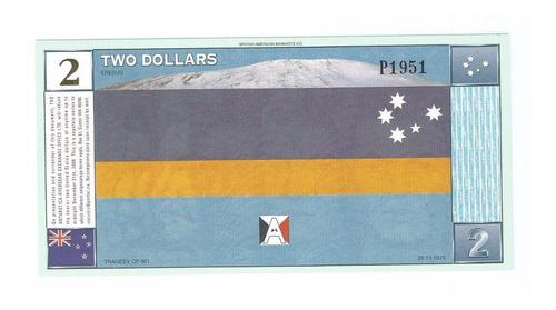 cédula 2 dólares antártica 1999 fe