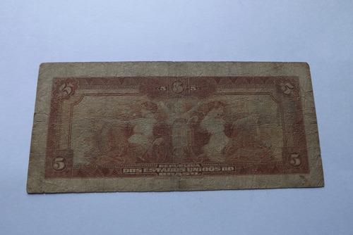 cedula 5 mil reis barão do rio branco 1932