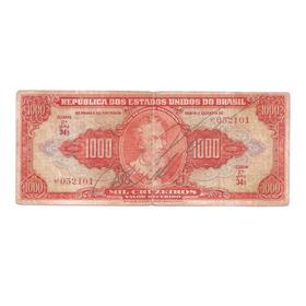 Cedula Antiga 1000 Cruzeiros C 104 - Mbc