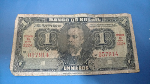 cédula brasil 1 mil reis  campos sales bc