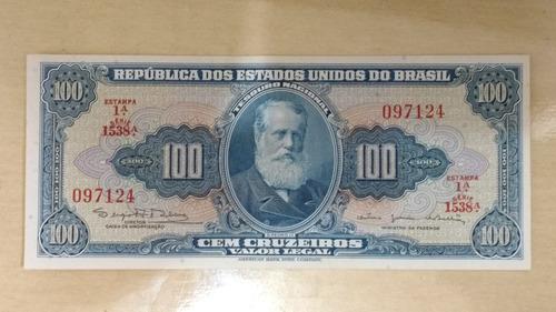 cédula brasil 100 cruzeiros  soberba/fe